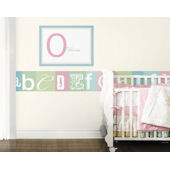 Now I Know My ABCs Teal and Pink  Border
