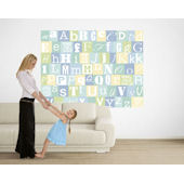 Now I Know My ABCs Blue and Green Pre Pasted Mural