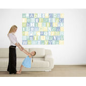 Now I Know My ABCs Blue and Green Easy Up Mural