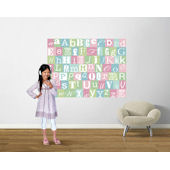 Now I Know My ABCs Teal and Pink Easy Up Mural