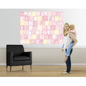 Now I Know My ABCs Yellow and Pink Easy Up Mural