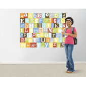 Now I Know My ABCs Primary Colors Easy Up Mural
