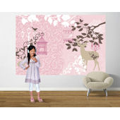 Baroque My Heart Pink  Easy Up Mural