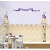 Princess Castle Rose Banner Peel and Stick Sticker