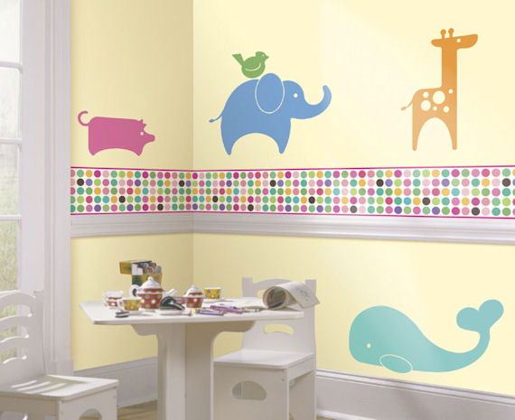 Seeing Spots Bright Color Border - Wall Sticker Outlet