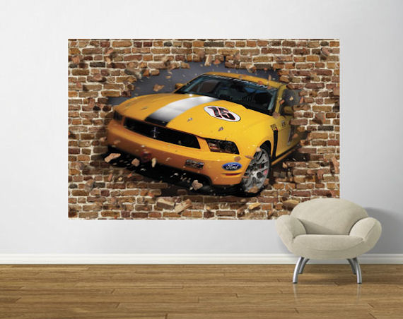 Boss 302R Through The Wall  Easy Up Mural - Wall Sticker Outlet