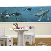 Deep Sea Whales  Mini Mural