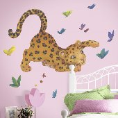 Leopard Peel and Stick Wall Mural