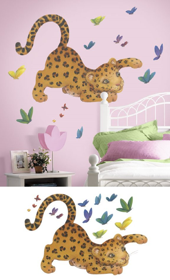 Leopard Peel and Stick Wall Mural - Wall Sticker Outlet