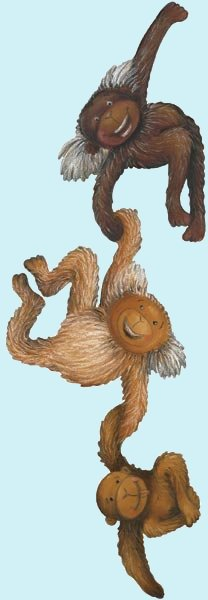 Monkeys Peel and Stick Wall Mural - Wall Sticker Outlet