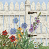 Etonnant Picket Fence Garden Wall Mural