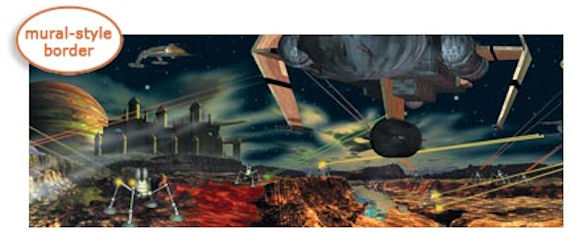 Space Wars  Border - Wall Sticker Outlet
