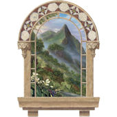 Spanish Window Pali Lookout Peel Stick Wall Mural