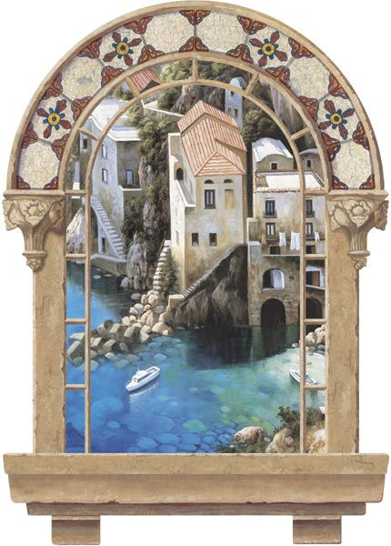 Spanish Window Cliff Dwelling Peel Stick Mural