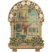 Spanish Window Peel Stick Wall Mural