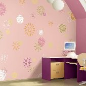 Starburst Pinky Pre Pasted Wall Mural
