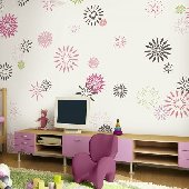 Starburst White Pre Pasted Wall Mural