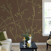 Great Vine Tella Mural Red
