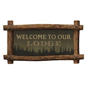 Welcome to Our Lodge Peel and Stick Wall Mural