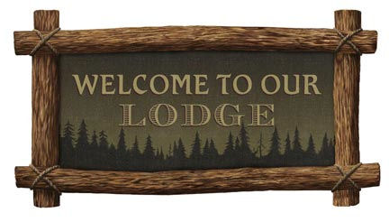 Welcome to Our Lodge Peel and Stick Wall Mural - Wall Sticker Outlet