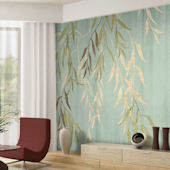 Willow Wisp Tella Mural Blue Sedge
