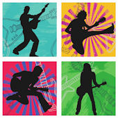 Born to Rock Kidifexs Wall Stickers