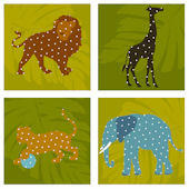 Zoo Animals Kidifexs Peel and Stick Wall Stickers