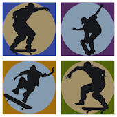 Skateboard Shadow Kidifexs Wall Stickers