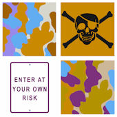 Bright Risk Camo Kidifexs Wall Stickers