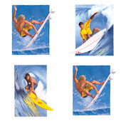 Surfing Kidifexs Wall Stickers