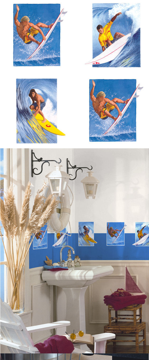 Surfing Kidifexs Wall Stickers - Wall Sticker Outlet