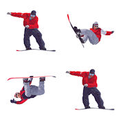 Snowboarding Kidifexs Wall Stickers
