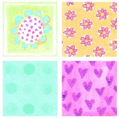 Dotted Flower Kidifexs Peel and Stick Wall Sticker