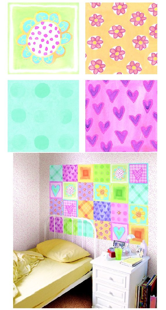 Dotted Flower Kidifexs Peel and Stick Wall Sticker - Wall Sticker Outlet