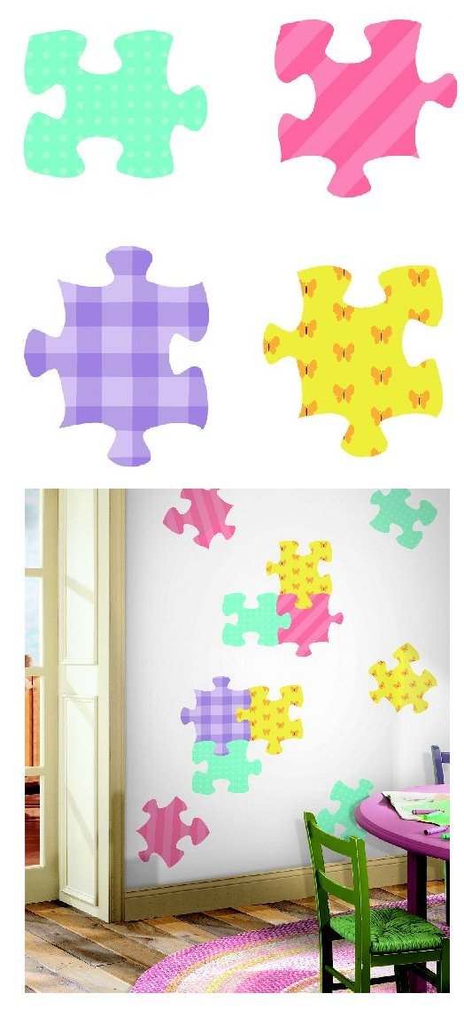 Puzzle Pieces Kidifexs Peel and Stick Stickers - Kids Wall Decor Store