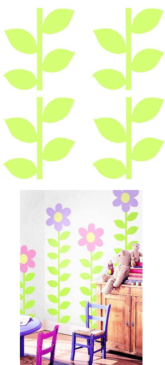 Stems Kidifexs Peel and Stick Stickers - Kids Wall Decor Store