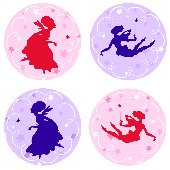 Fairies Kidifexs Peel and Stick Stickers