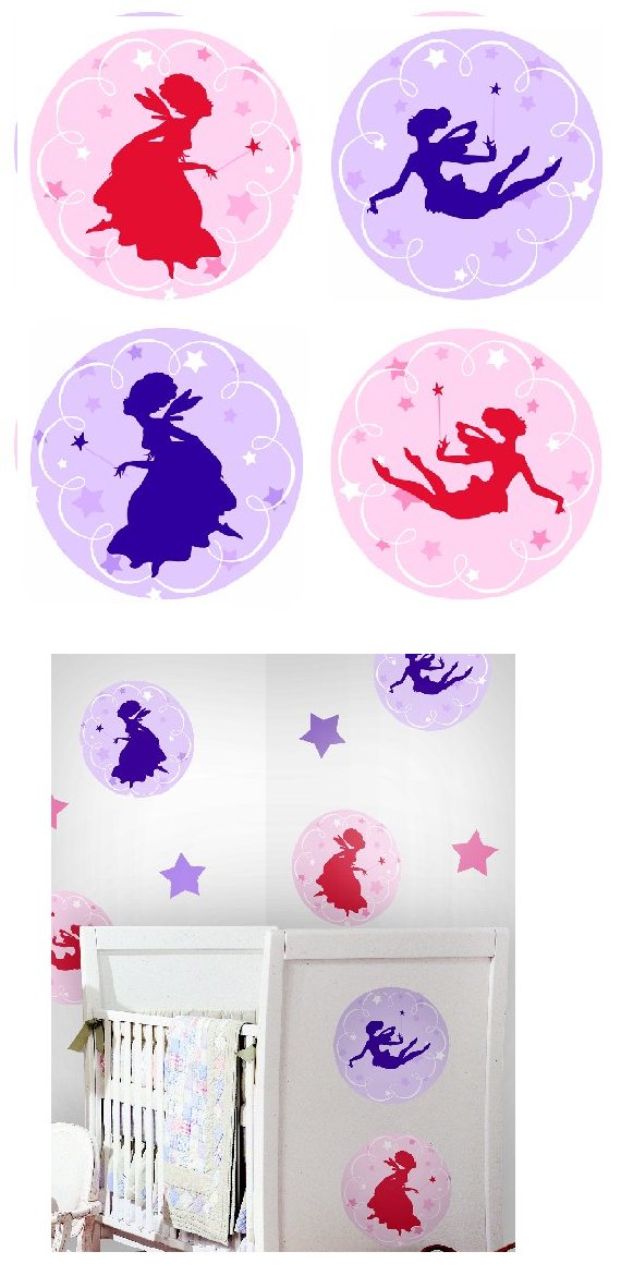 Fairies Kidifexs Peel and Stick Stickers - Kids Wall Decor Store