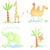 Zoo Animals Kidifexs Peel and Stick Stickers