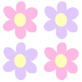 Pink Purple Flower Kidifexs Peel and Stick Sticker