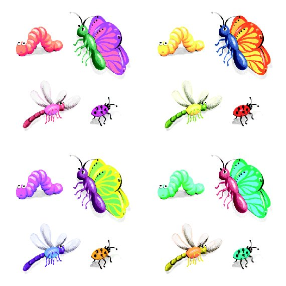 Insect Butterflies Kidifexs Peel and Stick Sticker - Wall Sticker Outlet