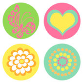 Designed Circles Kidifexs Wall Stickers