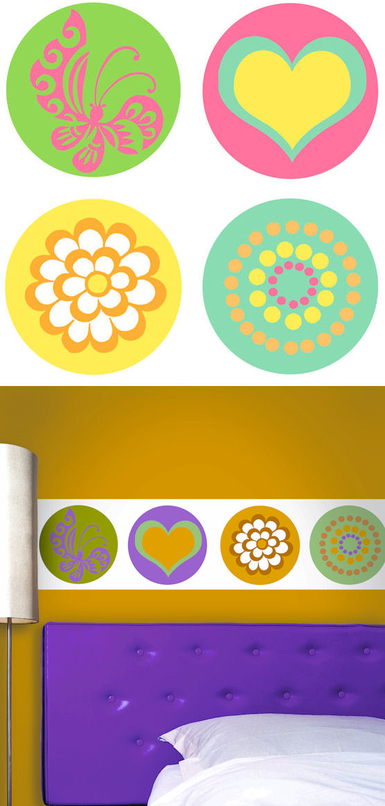 Designed Circles Kidifexs Wall Stickers - Wall Sticker Outlet