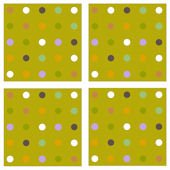 Green Polka Dot Circle Print Kidifex Wall Stickers