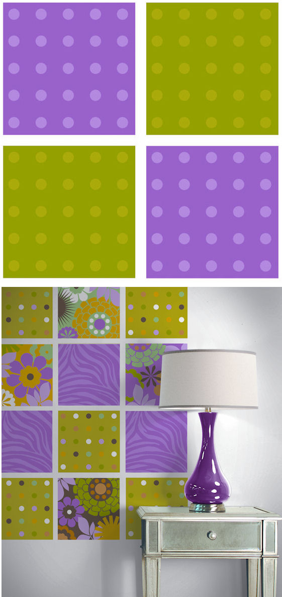 Pink Green Polka Dots Kidifexs Wall Stickers - Wall Sticker Outlet