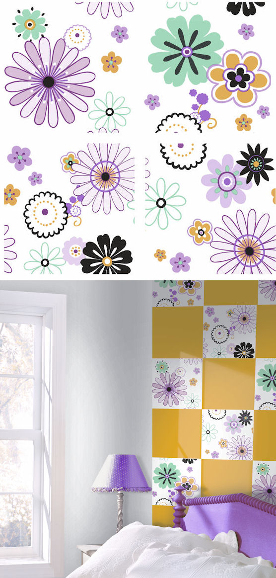 Daisy Flowers Kidifexs Wall Stickers - Wall Sticker Outlet