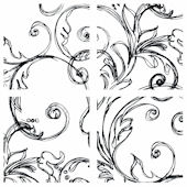 Black Sketched Paisley Decorifex Wall Sticker