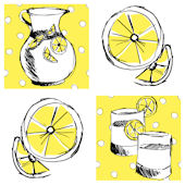 Lemonade Decorifex Peel and Stick Wall Sticker