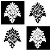 Black White Damask Decorifex Wall Sticker