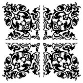 Black full Damask Decorifex Wall Sticker